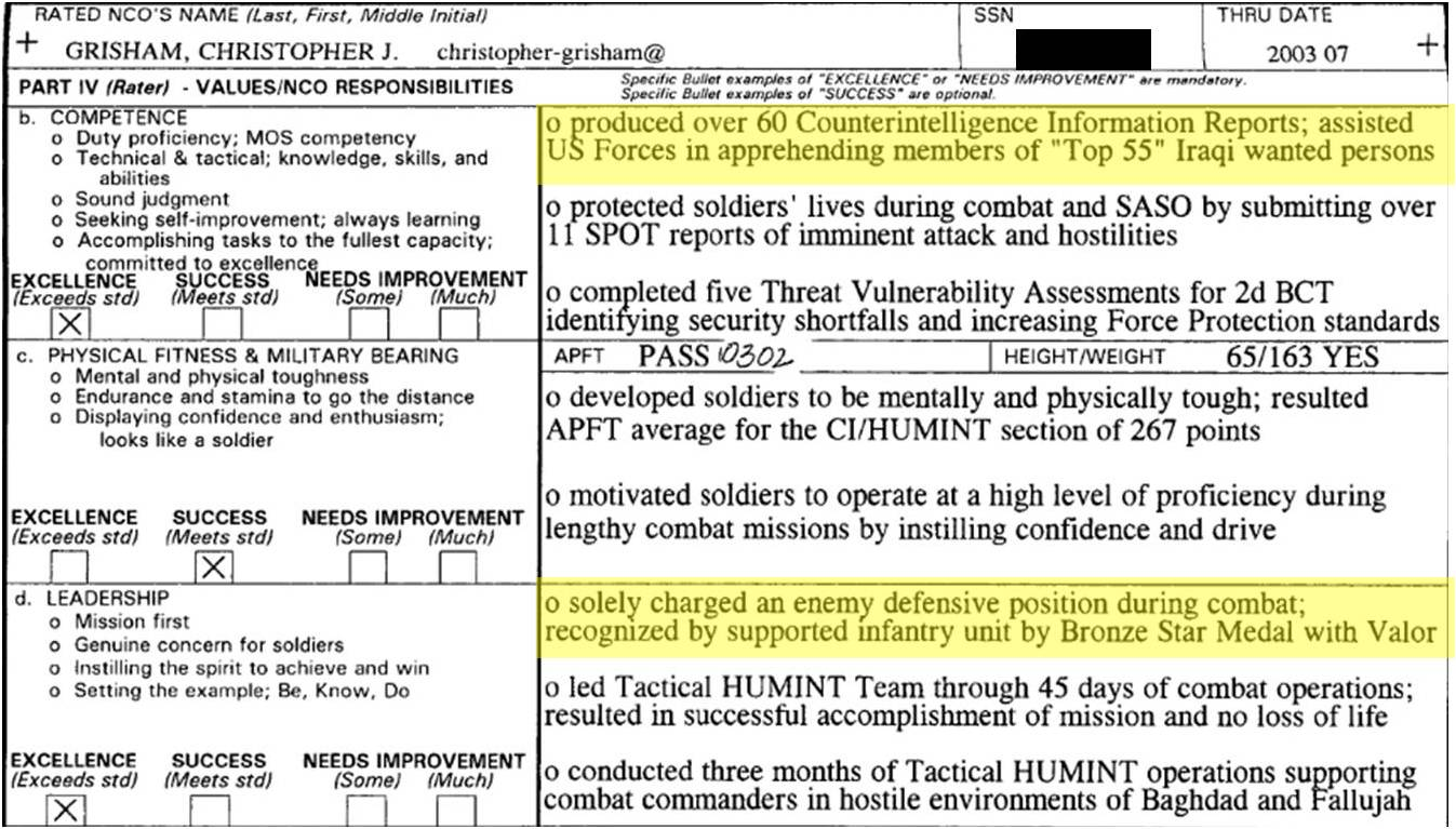 ncoeryon Oer Support Form Bullet Examples on major performance objectives, for intelligence, army evaluation, military chaplain, army bn xo, us army, filled out, for lno,